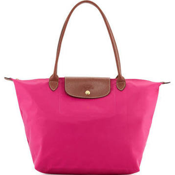 Nylon Designer tote Bag Hot Pink