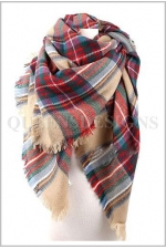 Plaid Scarf shawl 2