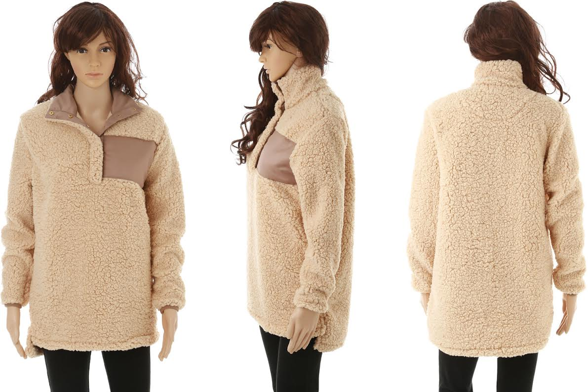 Sherpa Pull over Tan